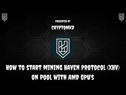 How To Start Mining Haven Protocol (XHV) On Pool With AMD GPU's