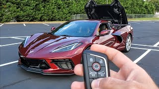 Is The C8 Corvette Convertible Worth $7,500 Extra? First Drive & Impressions!