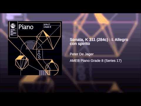 Sonata, K 311 (284c) : I. Allegro con spirito