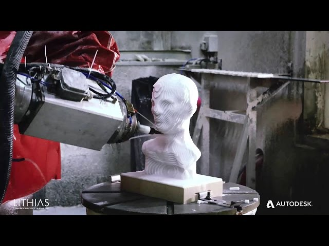 PowerMill Robot Machining of Caesar's Bust with Lithias