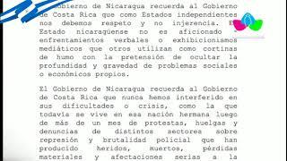 Declaración del Gobierno de Nicaragua
