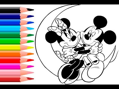 Mickey Mouse Coloring Pages - Minnie Mouse Coloring Book - YouTube