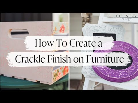 How To Create a Crackle Finish on Furniture | Crackle Medium Tutorial | Country Chic Paint