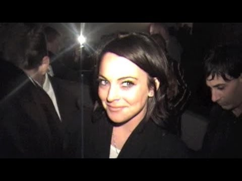 LINDSAY LOHAN attends George Clooney's midnight Oscar party in 2006.