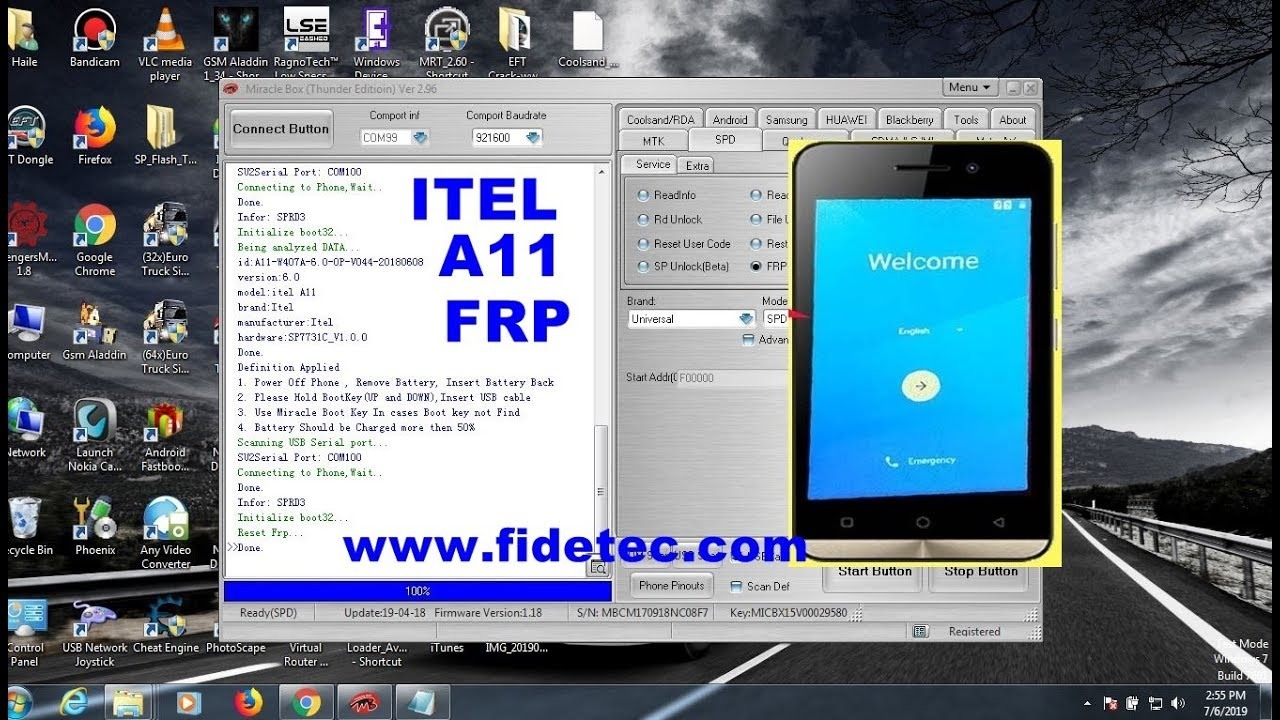 Itel A11 Frp Reset with Miracle Box 1-Click spd7731C - Fidetec