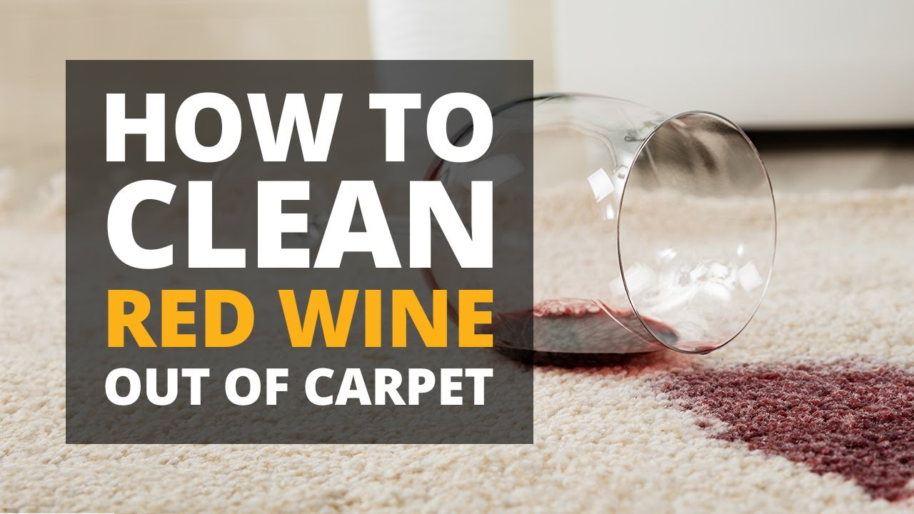 How To Get Red Wine Out Of Carpet - YouTube