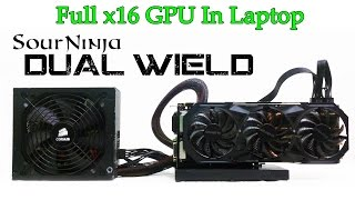 full performance desktop graphics card in a laptop x16 speeds mxm to pcie