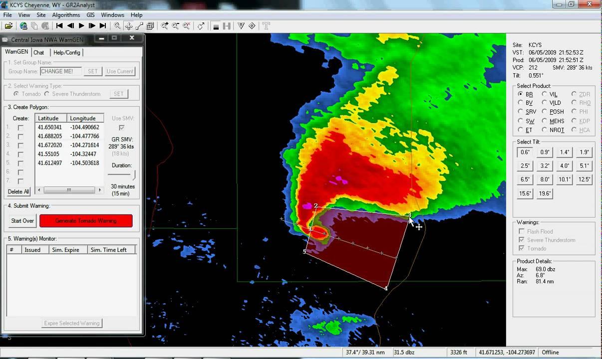 Interactive Radar-Warning Program