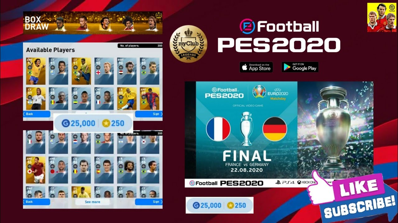 LEGEND GP BOX DRAW!!!😱 What's Coming On This Monday Aug 17 '20 || PES 2020 Mobile