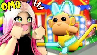 Wengie Makes A Neon Pet For The First Time! Legendary Monkey King In Roblox New Adopt Me Update