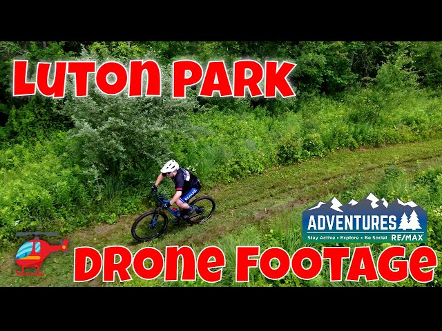 Luton Park Mountain Bike Trail   Drone Footage