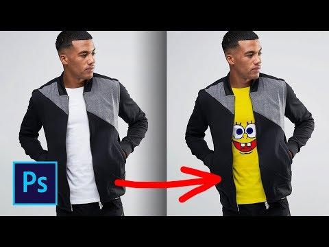 Как поменять одежду в фотошопе