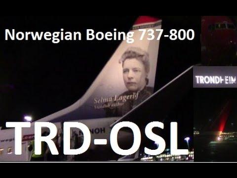 Norwegian Flight DY773 Trondheim Oslo