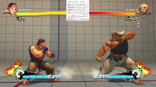 SF4 Setup Trainer. A tool to make training easier in SSFIV AE 2012