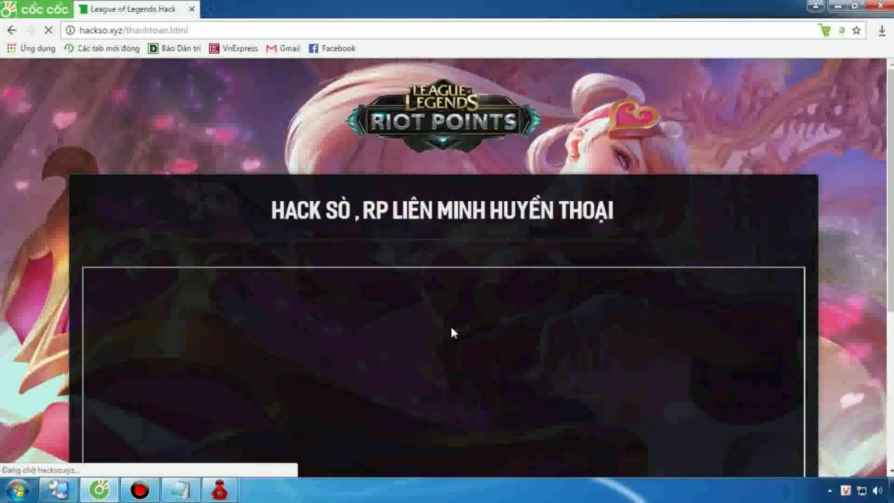 Hack Sò , Hack RP liên minh huyền thoại 2017 Hướng Dẫn Hack RP LMHT Mới  Nhất , Thành Công 100%