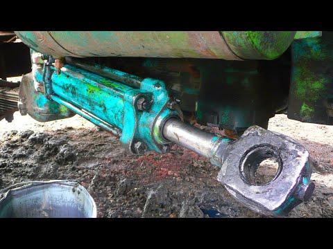 28-Д.(2С.).Переборка поворотного цилиндра на Т-150К.