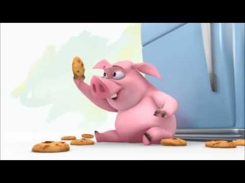 Хрюшка и печенье видео