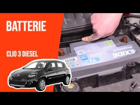 Changer La Batterie Clio 3 1 5 Dci Youtube
