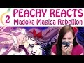Madoka Magica Rebellion part 2 ♥ PEACHY REACTS