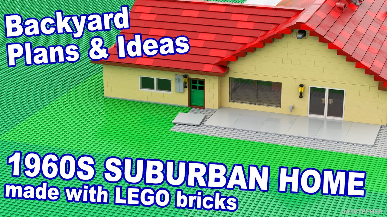 1960 Lego Suburban Home Backyard Plans Amp Ideas Youtube