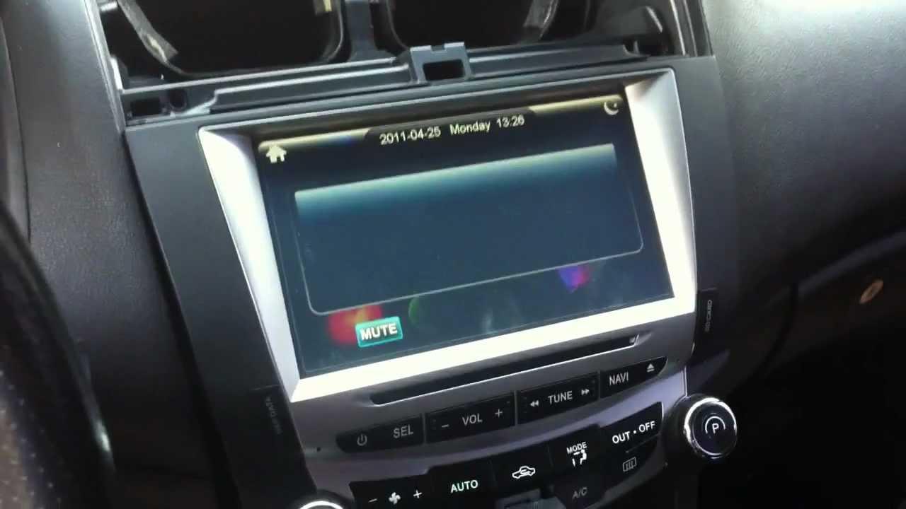 Head Unit For Honda Accord Youtube