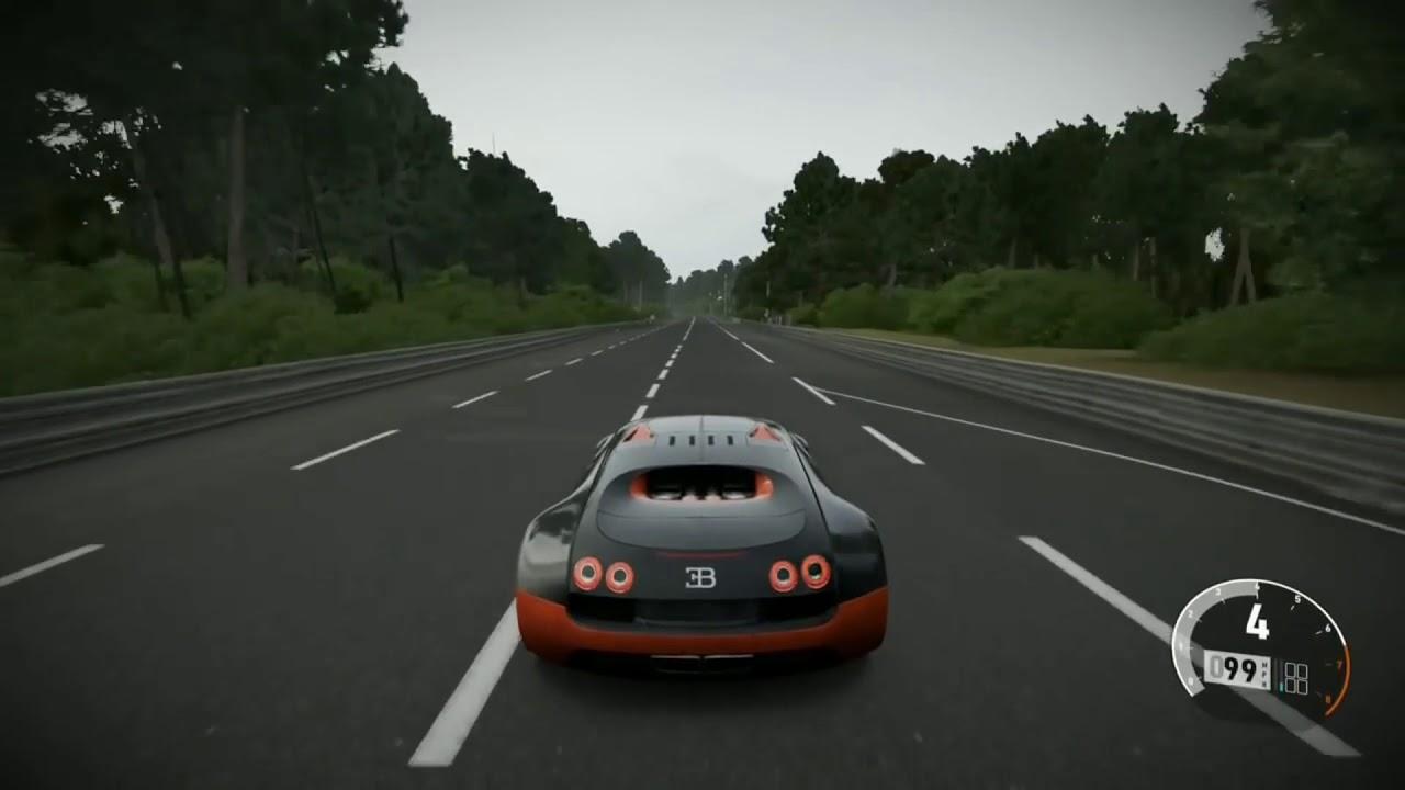 "forza 7- 2011 bugatti veyron ss top speed ""262mph"" - youtube"