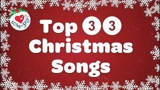 Top 33 Christmas Songs and Carols with Lyrics Playlist 2019 🎅