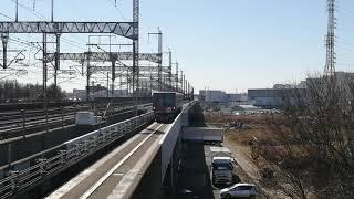ニューシャトル2000形1番編成(ローズピンク?)吉野原駅入線