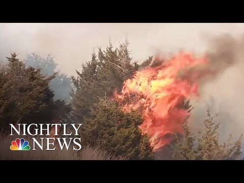 State Of Emergency, Evacuations As Wildfires Hit Oklahoma | NBC Nightly News