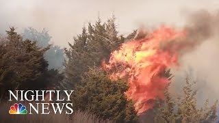 State Of Emergency And Evacuations As Wildfires Hit Oklahoma | NBC Nightly News