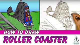 How to Draw a Roller Coaster Step by Step in One point Perspective