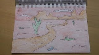 190 - How to Draw! Another Cool Easy Cartoon Desert Background