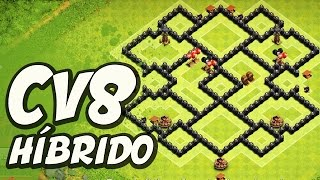 LAYOUT DE DEFESA (PUSH TITÃ) PARA CV8 / BEST DEFENSE LAYOUT (PUSH) FOR TH5 - Clash of Clans !