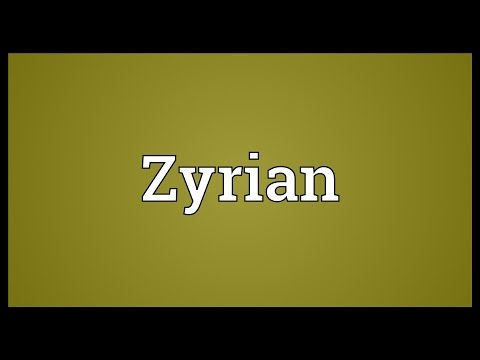 Header of Zyrian
