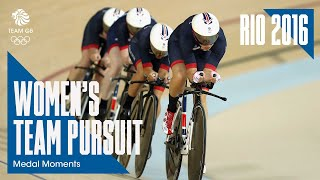 Team GB Women's Team Pursuit Cycling Gold | Rio 2016 Medal Moments