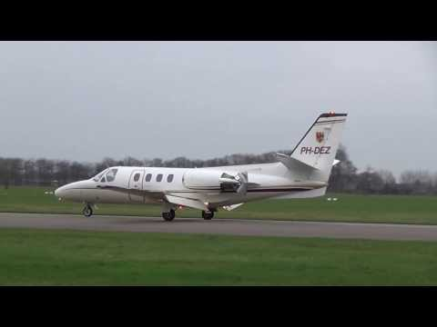 Go-around and landing PH-DEZ Cessna 501 Citation I/SP at Teuge Airport