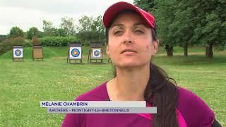 Portrait : Mélanie Chambrin de l'arc au stylo, des flèches aux mots