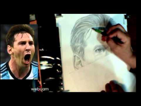 Lionel Messi dibujo a lapiz  YouTube