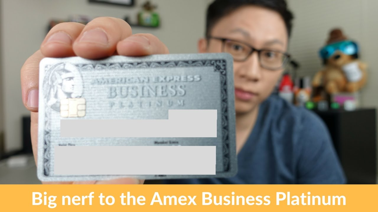 Big Downgrade to the American Express Business Platinum Card - YouTube