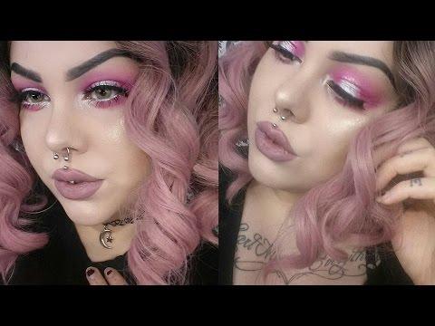 ♡ Pink & Silver Halo Eye | Makeup Tutorial ♡