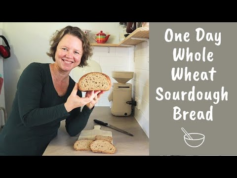 Whole Wheat Sourdough Bread - In One Day