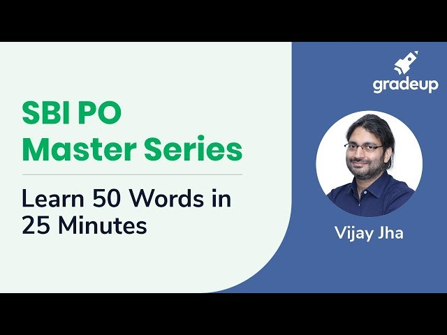 SBI PO Master Series | Learn 50 words in 25 minutes