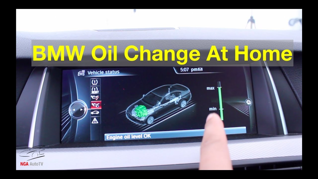 hight resolution of bmw 535i f10 f11 n55 oil change diy maintenance reset