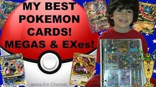 My BROTHER'S Best Pokemon Cards! Collection Album of Megas, Exes, Full Arts & Secret Rares! Jenna Em