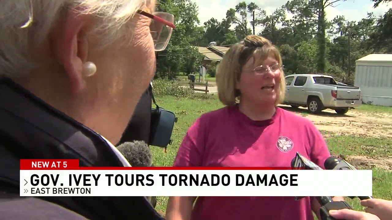 Gov. Kay Ivey tours tornado damage in East Brewton- NBC 15 WPMI