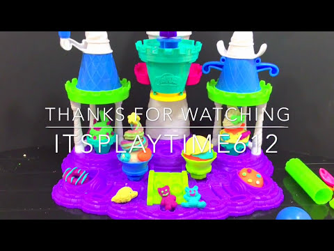 Play-Doh ICE CREAM CASTLE Creative Activity for Kids | itsplaytime612