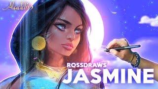 Ross Draws JASMINE (Aladdin)