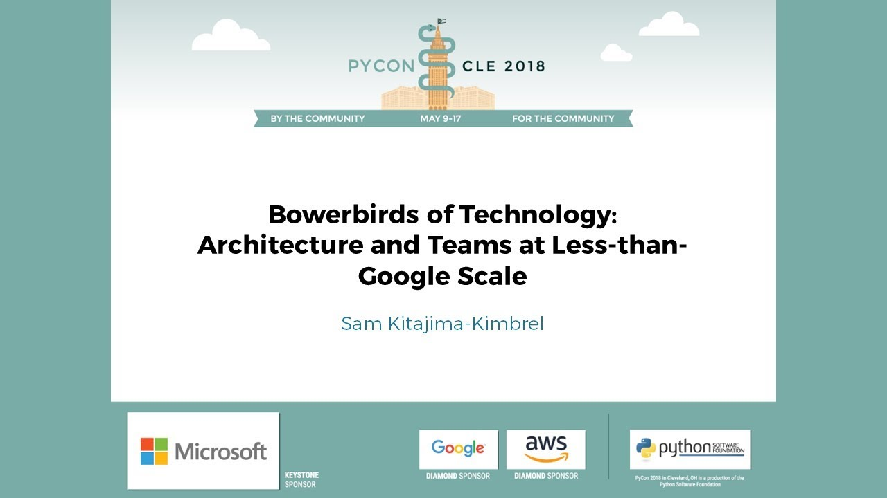 Image from Bowerbirds of Technology: Architecture and Teams at Less-than-Google Scale