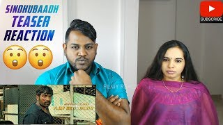 Sindhubaadh Teaser Reaction | Malaysian Indian Couple | Vijay Sethupathi | Anjali | Yuvan Music