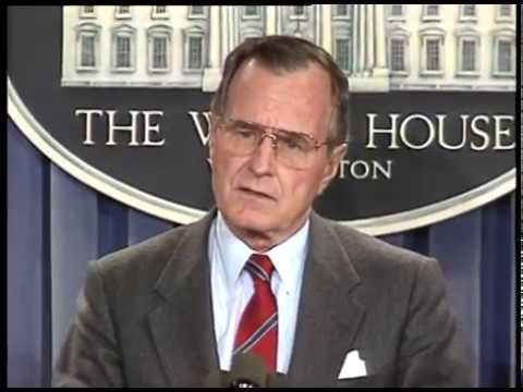 President Bush Announces Gen Noriega Capture - 03 January 1990